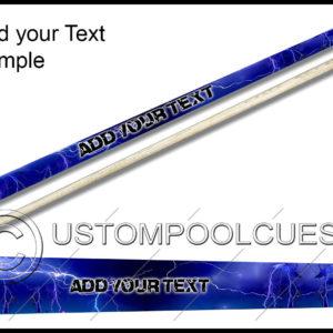 Blue Lightning Storm Pool Cue
